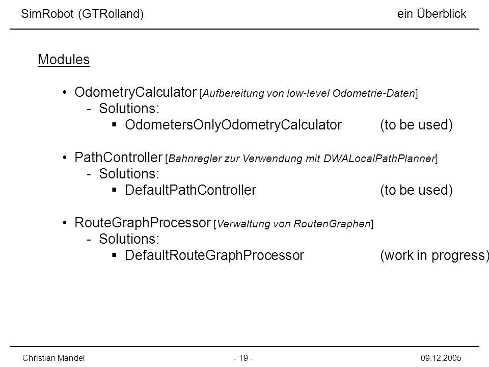 OdometryCalculator [Aufbereitung von low-level Odometrie-Daten]